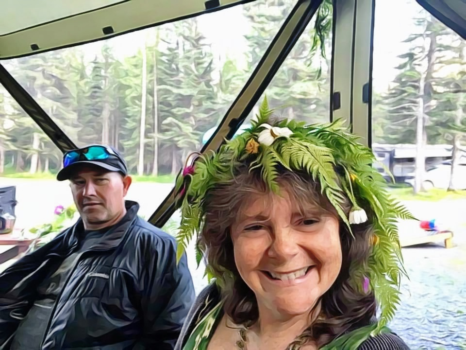 Alaska solstice Dave and Denise selfies